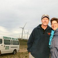 Tim & Carmel Brady with Codrington Wind Farm Tours
